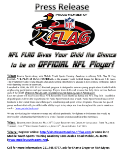 Where: Register online: http://kineticsportsonline.nflflag.com or come