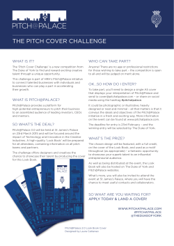 THE PITCH COVER CHALLENGE