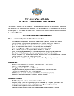 employment opportunity securities commission of the bahamas