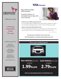 Current Newsletter - Freedom Federal Credit Union
