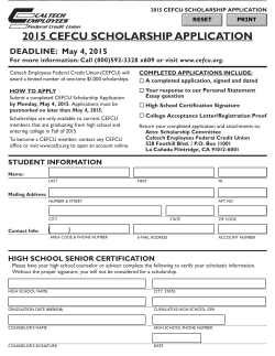 2015 cefcu scholarship application