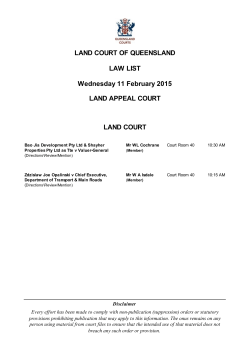 Land Court and the Land Appeal Court