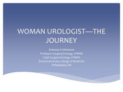 Kristene E. Whitmore, MD - Society of Women in Urology