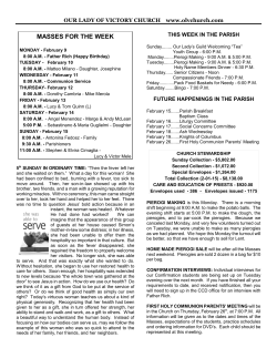bulletin 2-08-15 - Our Lady of Victory