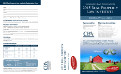 2015 Real Property Law Institute