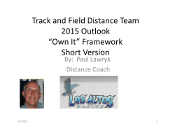 PowerPoint Pitch - Los Altos High Track and Field