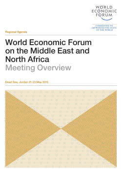 World Economic Forum on the Middle East and North Africa Meeting