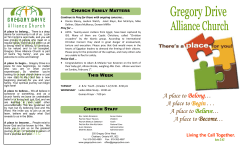 Weekly Bulletin - Gregory Drive Alliance Church