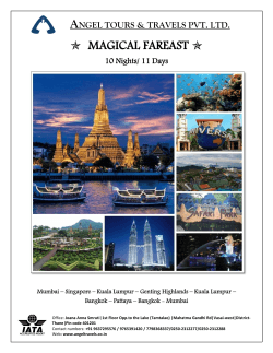 • MAGICAL FAREAST • - Angel Tour & Travels