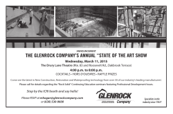 "THE GLENROCK COMPANY`S ANNUAL ""STATE OF THE ART SHOW"