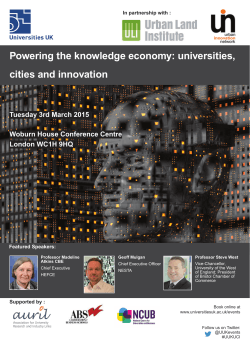 Powering the knowledge economy: universities