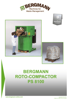Bergmann PS8100 Roto Compactor Technical Data inc accessories
