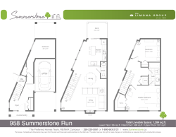 958 Summerstone Run, Custom Plan