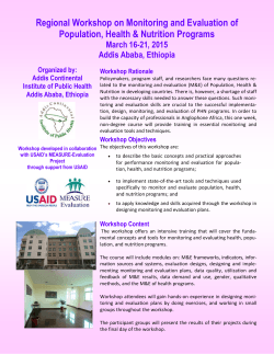 Brochure - Addis Continental Institute of Public Health