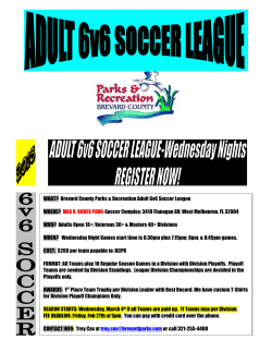Soccer 6v6 18+, 30+, and 40+ Wednesday