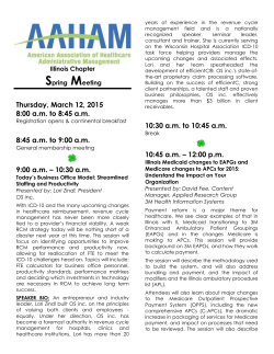 Program Information - the Illinois Chapter of AAHAM