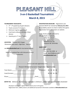 3-on-3 Basketball Tournament March 8, 2015
