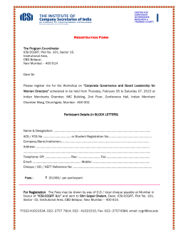 Registration Form Registration Form The Program Co The