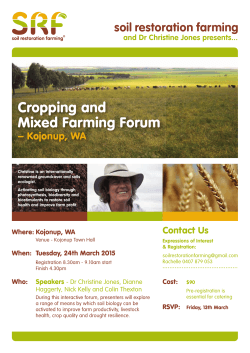 Cropping and Mixed Farming Forum
