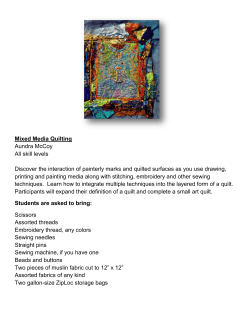 Mixed Media Quilting Aundra McCoy All skill levels Discover the
