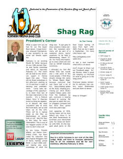 February Issue - Northern Virginia Shag Club