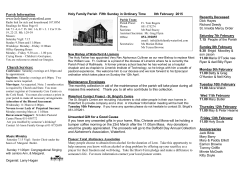 Parish Information www.holyfamilywaterford.com Church Services: