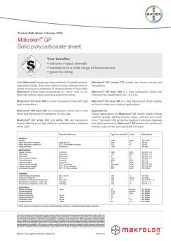 Makrolon® GP Solid polycarbonate sheet