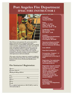 IFSAC Fire Instructor 1 course