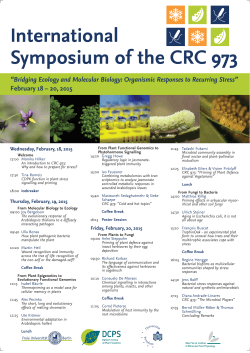 International Symposium of the CRC 973
