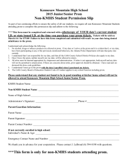 Non-KMHS Student Permission Slip ***This form is only for non