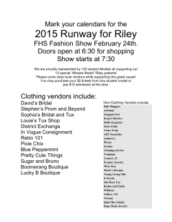 FHS Fashion Show February 24th...click here for more information