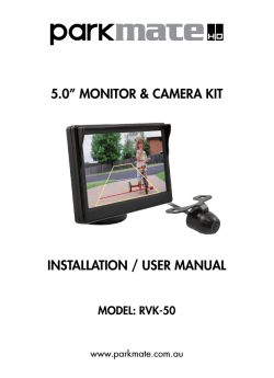 "5.0"" monitor & camera kit installation / user manual"