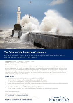 The Crisis in child protection conference.pub