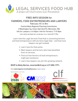 FREE INFO SESSION for FARMERS, FOOD ENTREPRENEURS