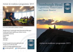 2015 Artists-in-Residence brochure