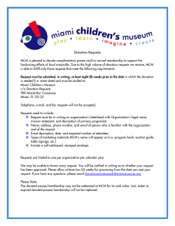 Donation Requests - the Miami Children`s Museum