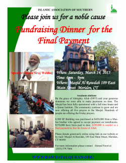 Fundraising Dinner for the Final Payment