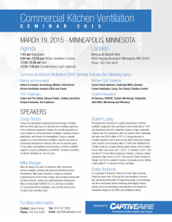 2015 Commercial Kitchen Ventilation Seminar on
