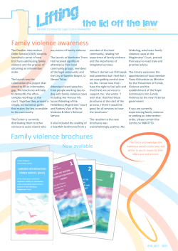 Summer 2014/15 - Federation of Community Legal Centres Victoria