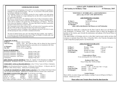 LIMAVADY PARISH BULLETIN 6th Sunday in Ordinary Time 15