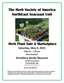 The Herb Society of America NorthEast Seacoast Unit