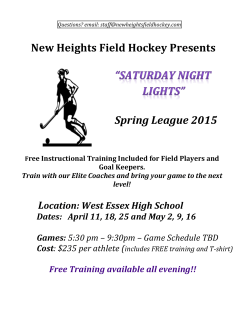 High School Players Saturday Night Lights Spring League Begins