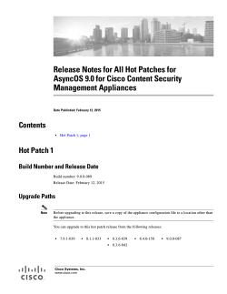 Release Notes for All Hot Patches for AsyncOS 9.0 for Cisco Content