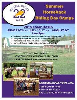 Summer Camp Flyer - Double Deuce Farm