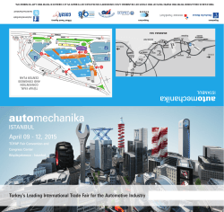 VISITOR INVITATION - Automechanika Istanbul