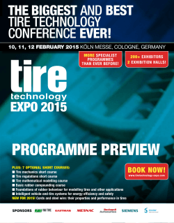 Programme Preview - Tire Technology Expo 2015