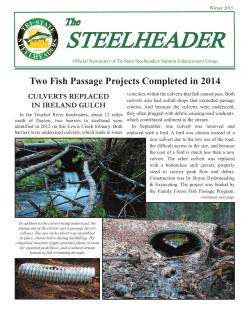 Newsletter - Tri-State Steelheaders