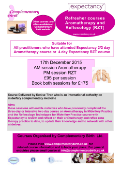 course flyer - Complementary Birth