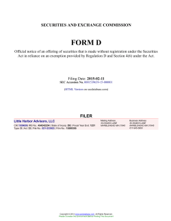 Little Harbor Advisors, LLC Form D Filed 2015-02-11
