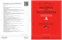 Contents - Alcohol and Alcoholism